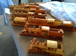 Hand built NZR locomotive Solid Timber