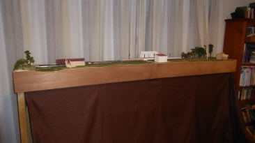 Set up on a cold winter night in the lounge, Station only, building Stock yards, Power poles, 5 wire fences [ trial ]